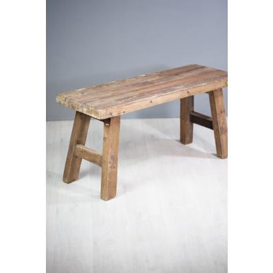 Banc en bois exotique L 100 cm