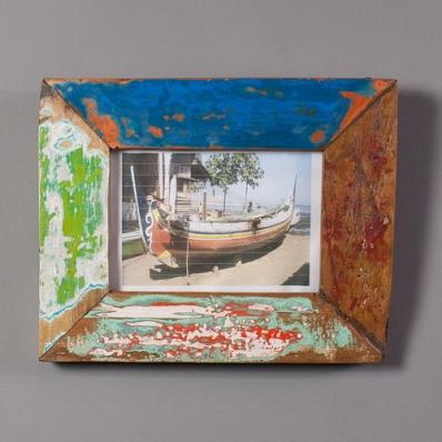 Cadre photo 10x15 cm en bois de pirogue