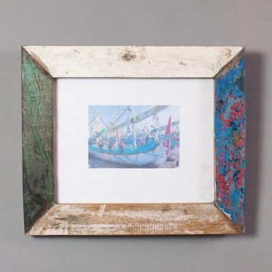 Cadre photo 25x20 cm en bois de pirogue