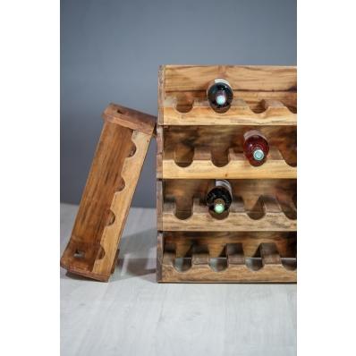 Casier 4 bouteilles en bois exotique naturel