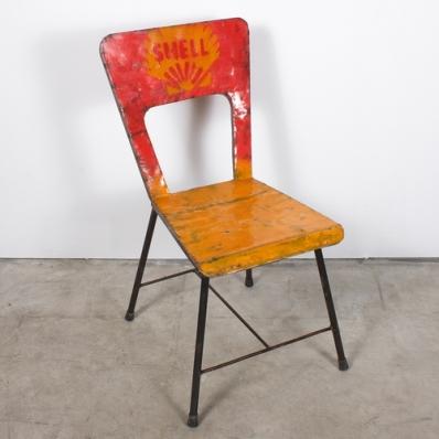 Chaise en métal recyclé Shell