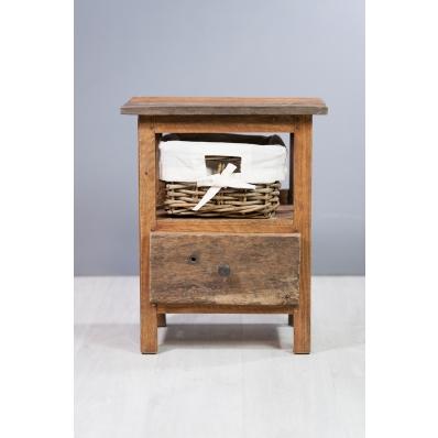 Chevet en bois exotique 1 tiroir