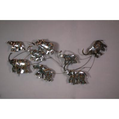 Eléphants en métal