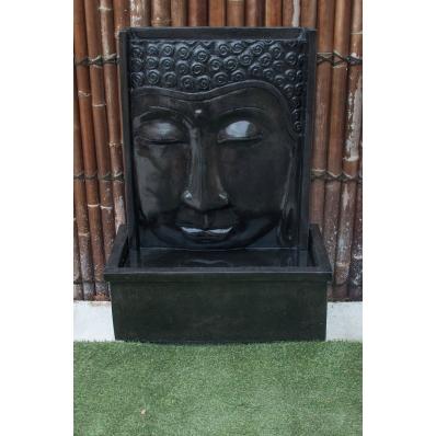 Fontaine mur d'eau visage de Bouddha 111 cm noir