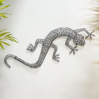 Grand Gecko en grillage 120 cm