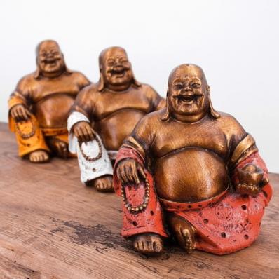 Happy Bouddha en résine