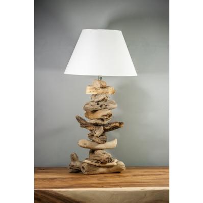 Lampe à poser en bois flotté naturel