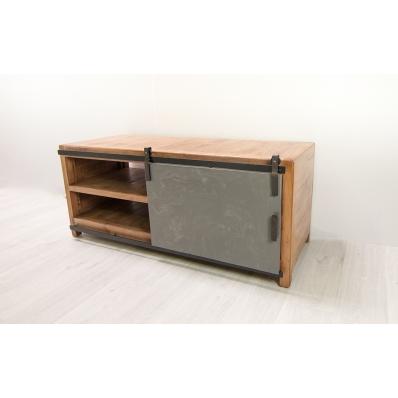 table repas en manguier et b ton 180 cm. Black Bedroom Furniture Sets. Home Design Ideas
