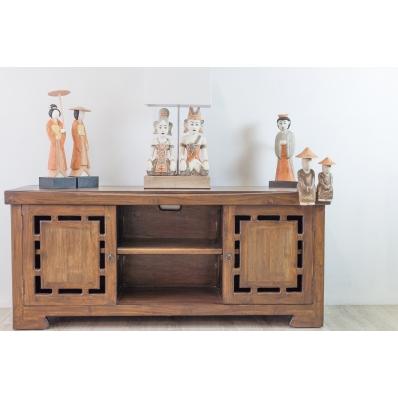 armoirette 100 en bois de pirogue recycl e prix bas. Black Bedroom Furniture Sets. Home Design Ideas