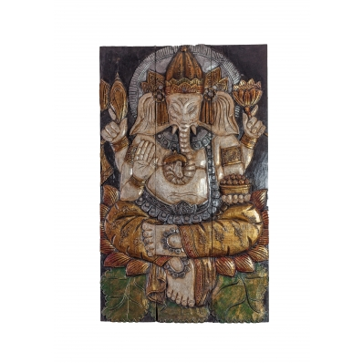 Panneau mural Ganesh multicolor