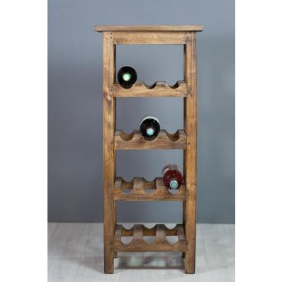 Range-bouteilles en bois exotique naturel
