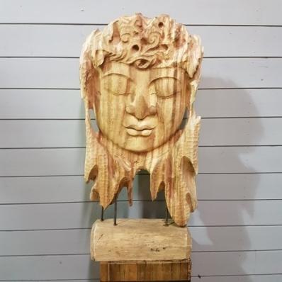 Sculpture visage de Bouddha