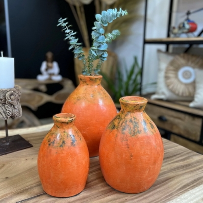 Set de 3 Vases en Terracotta