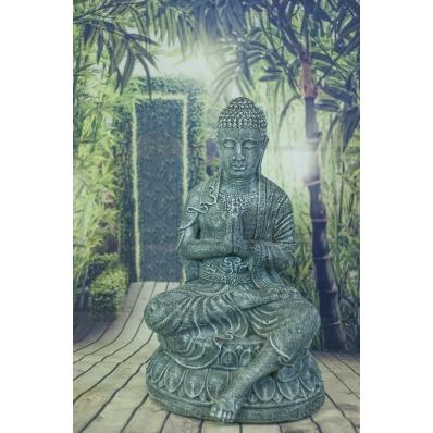 Statue Bouddha anjali-mudra 70 cm gris