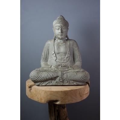Statue Bouddha Dhyana mudra 42 cm taupe