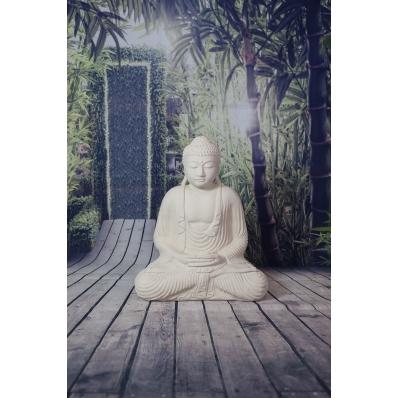 Statue Bouddha Dhyana mudra 55 cm blanc