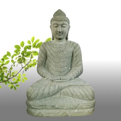 Statue Bouddha dhyãna mudrã en pierre 100 cm