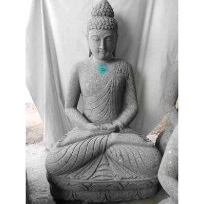 Statue Bouddha dhyãna mudrã en pierre 120 cm