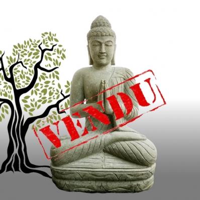 Statue Bouddha mudrã Anjali en pierre 120 cm