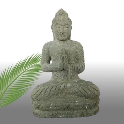 Statue Bouddha mudrã Anjali en pierre 56 cm