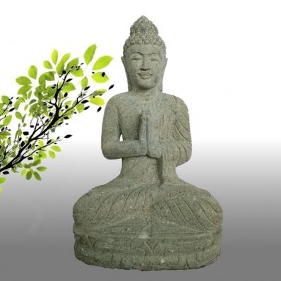 Statue Bouddha mudrã Anjali en pierre 57 cm