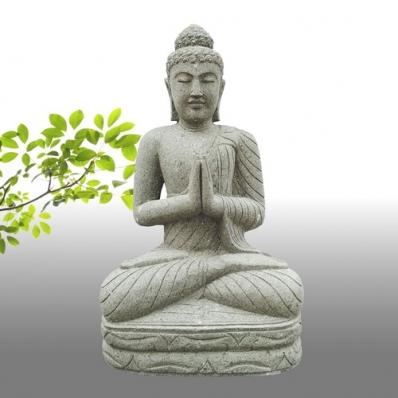 Statue Bouddha mudrã Anjali en pierre 95 cm