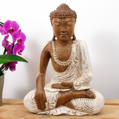 Statue Bouddha mudra Bhûmisparsha 40 cm