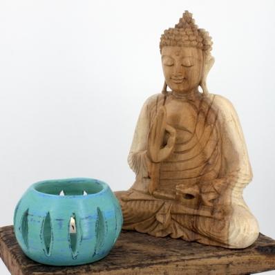 Statue Bouddha mudra Vitarka 20 cm naturel