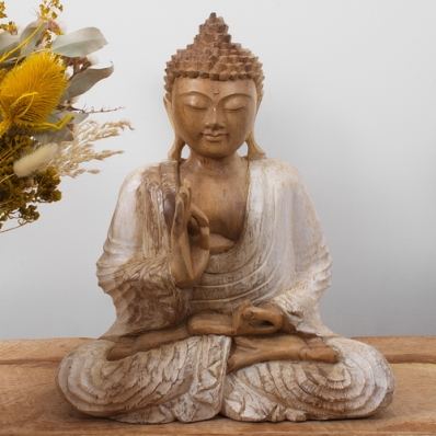 Statue Bouddha blanchi
