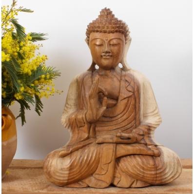 Statue Bouddha mudra Vitarka 40 cm Naturel