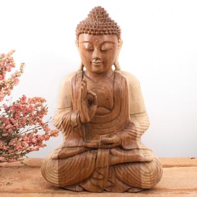 Statue Bouddha mudra Vitarka 50 cm Naturel