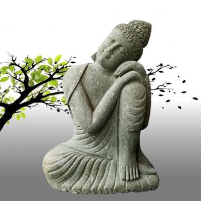 Statue Bouddha posture du penseur 100 cm