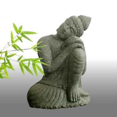 Statue Bouddha posture du penseur 60 cm
