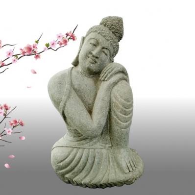 Statue Bouddha posture du penseur 80 cm