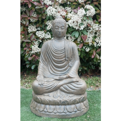 Statue Bouddha Varada-mudra 100 cm brun