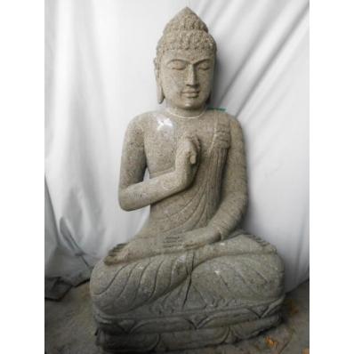Statue Bouddha vitarka mudrã en pierre 100 cm