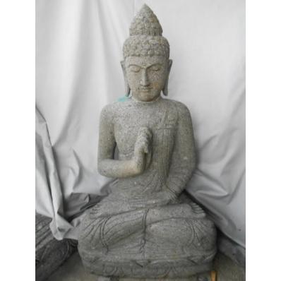 Statue Bouddha vitarka mudrã en pierre 105 cm