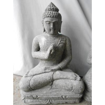 Statue Bouddha vitarka mudrã en pierre 52 cm