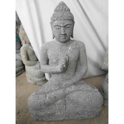 Statue Bouddha vitarka mudrã en pierre 60 cm