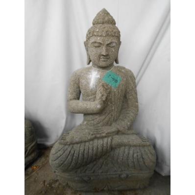 Statue Bouddha vitarka mudrã en pierre 80 cm
