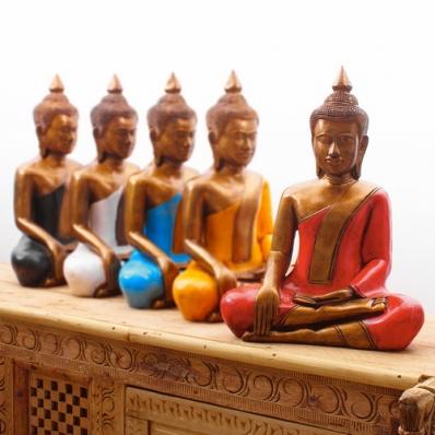 Statue Bouddha zen en résine 40 cm