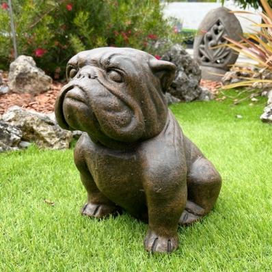 Statue chien Bulldog 43 cm
