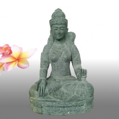 Statue déesse Tara en pierre de lave 80 cm