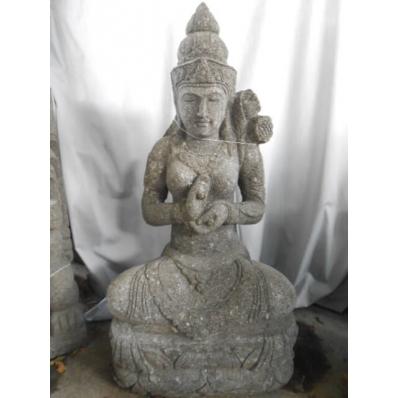Statue déesse Tara en pierre volcanique 100 cm