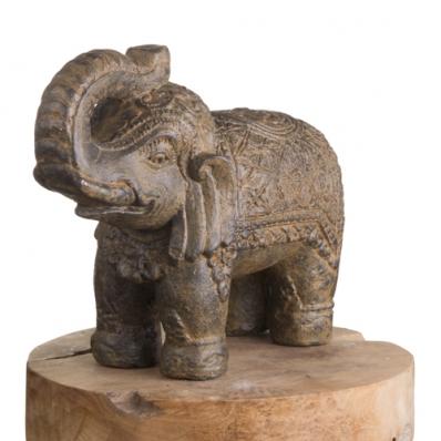Statue éléphant 30 cm marron