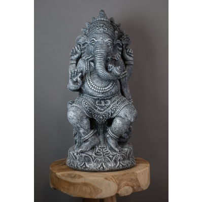 Statue Ganesh 60 cm gris