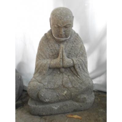 Statue moine Shaolin en pierre de lave 50 cm