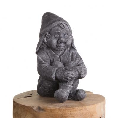 Statue nain assis en ciment 40 cm