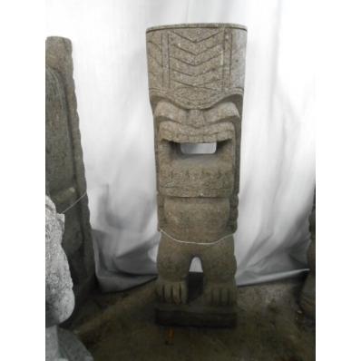Statue Tiki polynésien en pierre 100 cm