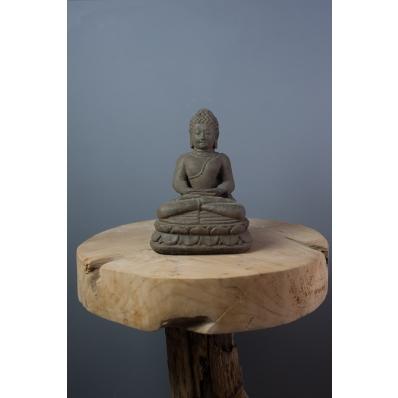 Statuette Bouddha Dhyana mudra 20 cm en ciment